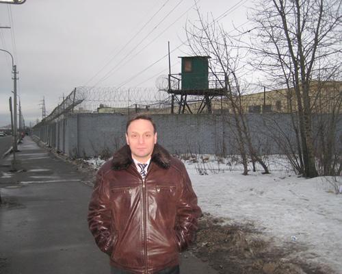 Адвокат Грабового Г.П. - Михаил Трепашкин у исправительной колонии № 6 «Обухово»